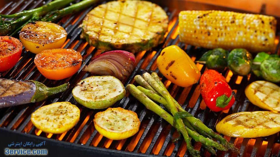 سبزیجات کبابی