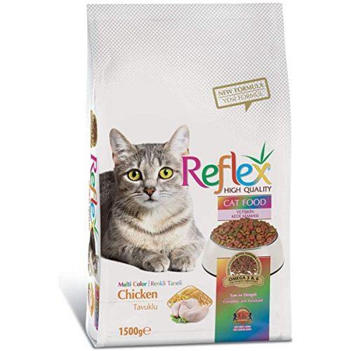 غذای خشک گربه رفلکس دونه رنگی