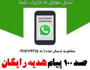 ارسال تبلیغات انبوه در واتساپ